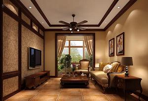 家庭美式客厅装修效果图